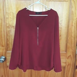 Apt.9 Women's Burgundy Blouse
